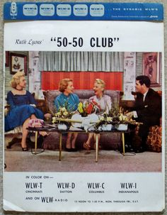 1950s RUTH LYONS 50-50 CLUB WLW radio & WLW-T TV Cincinnati promotional folder packet with BOB BRAUN & MARIAN SPELMAN by CINCINNATI TV & RADIO HISTORY, via Flickr