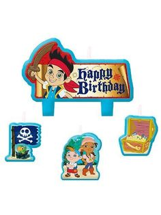 Jake and the Neverland Pirates Candle Set (Each) - List price: $8.99 Price: $4.29