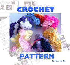Pony Crochet Pattern by IndigoHeartBox on Etsy, $7.00