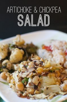 Artichoke & Chickpea Salad #vegan