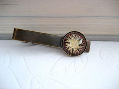 Compass/map tie clip