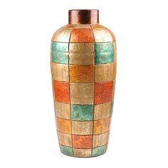 rhapsodi vase, idea, terra cotta, mediterraneanspanish modern, pretti color, kirkland decor, terracotta rhapsodi