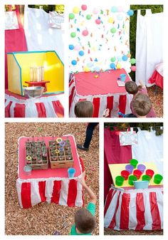 Outdoor Wedding Reception Carnival games