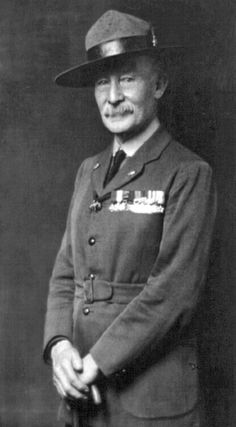Col. Robert Baden-Powell commanded the defense of Mafeking during the Boer War, and later founded the Boy Scouts.