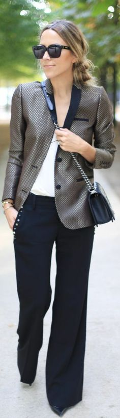 Fashionista: Black and White Office Style