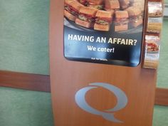 You know what this adultery needs? SANDWICHES.