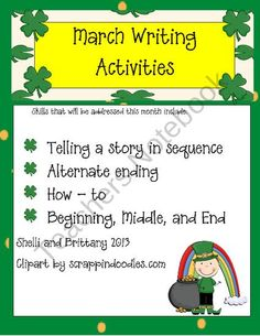 March Writing Activities product from oscyNcoopy on TeachersNotebook.com