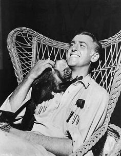 Stewart Granger made a new friend while filming King Solomon's Mines