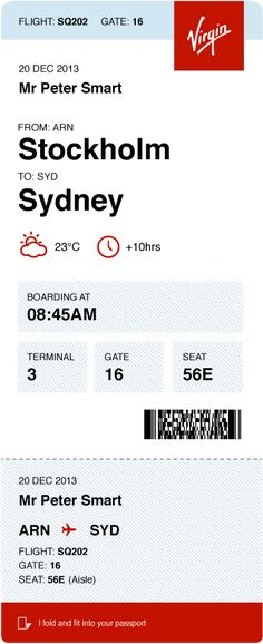 Brilliant new boarding pass design. Too bad this person doesn't actually have any power to change the boarding pass...