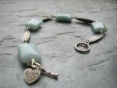 amazonite & silver bracelet