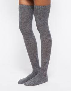 Over Knee Socks in Grey