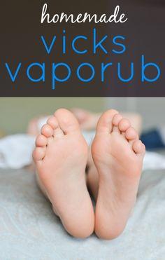 Down with a cold or cough? DIY Vicks Vaporub!