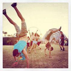 Coachella. kl coachella, instagram, misskl missklcoachella, handstands, coachella festiv