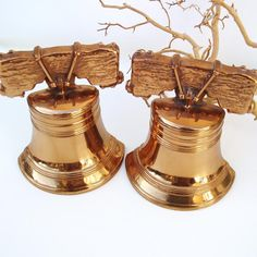 Vintage Liberty Bell Bookends Cast Metal Book Ends by WhimzyThyme, $38.95