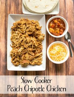 Slow Cooker Peach Chipotle Chicken