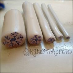 Snowflake Canes by KatersAcres