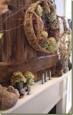Thanksgiving And Fall Mantel Ideas