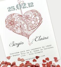 Convite de Casamento da About Love.