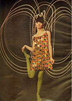 1960s dress and tights.