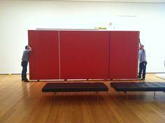 Deinstallation of Barnett Newman'sVir Heroicus Sublimisat MOMA