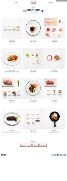 French Cuisse. Gorgeous site. webdesign, food blogs, food websites, website food