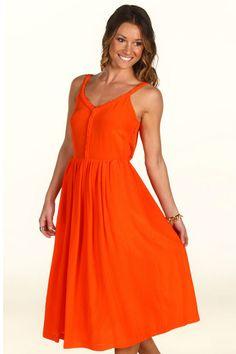 Swirling orange dress