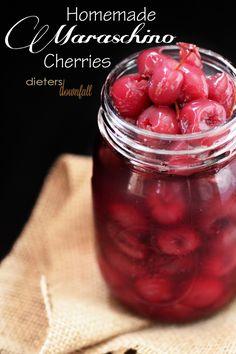 Make your own Maraschino Cherries at home this cherry season! from dietersdownfall,com