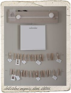organization board, clotheslines, craft, clothespin, organizations, organization station, laundry, art projects, calendar