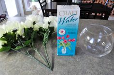 Living Beautifully...One (DIY) Step At A Time: DIY Artificial Flower Arrangements with Water