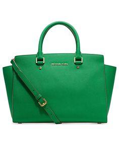 MICHAEL Michael Kors Handbag, Selma Large East West Satchel - Handbags & Accessories - Macy's