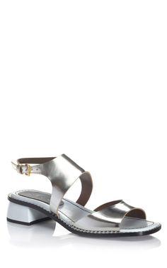 Marni's silver slingback