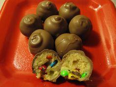 mini m cookie dough truffles