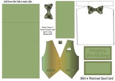 Green Tone's + Bow tie Easel Card (March 2013)