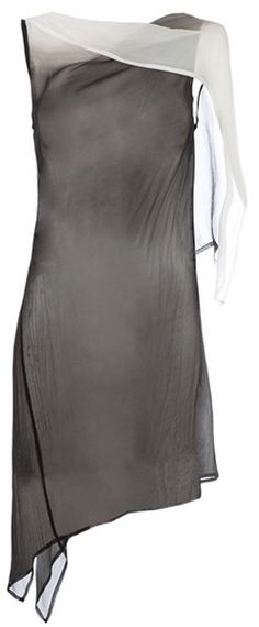 Ann Demeulemeester / Two- Tone Sheer Dress