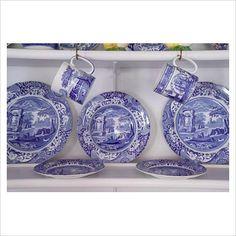 cup, white dish, plate, blue italian