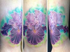 Ian Preece from Low Tide Tattoos Florida did this BEAUTIFUL bearded iris location!!facebook.com/emanpreeceinstagram@emanpreece
