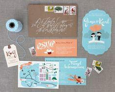I want cute invitations like this!