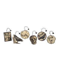 Take a look at this Spooky Halloween Ornament Set by Primitives by Kathy on #zulily today!