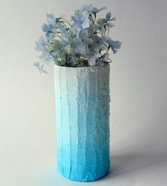 Robin's Egg Blue Ombre Vase - Gorgeous for Mother's Day gift or anytime!