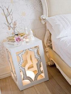 bedsite table - lantern