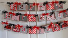 Checkered Banner with Tulle Bows