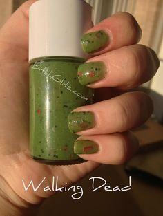 Walking Dead Zombie nail polish Etsy