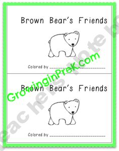 Brown Bear's Friends Freebie
