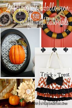 24 (cute, not scary) Halloween crafts!