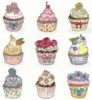 Bothy Threads - Summer Cupcakes - XH5 #crossstitch #crossstitching #crossstitchkits #bothythreadscrossstitchkits