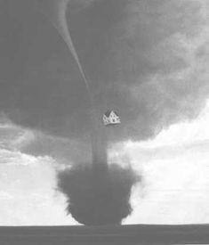 Wizard of Oz- Tornado and house