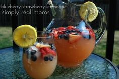Blueberry-Strawberry lemonade is a great twist and full of healthy antioxidants!