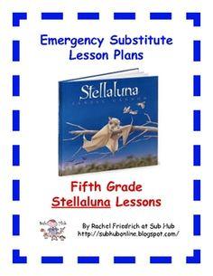 Fifth Grade Stellaluna Emergency Sub Plans