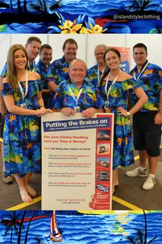 Fun Fun Fun ... Tropical Style all the way! Dress in Matching Hawaiian Shirts & Dresses for your next Group Event. #hawaiianshirts #hawaiiandresses #matching