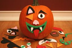mix and match jack-o-lantern faces